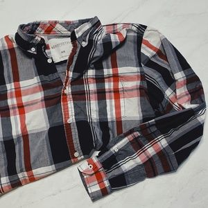 RED AEROPOSTALE PLAID LONG SLEEVE SHIRT